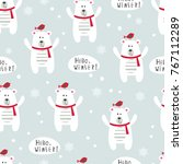 winter seamles pattern with... | Shutterstock .eps vector #767112289