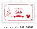 christmas and new year greeting ... | Shutterstock .eps vector #767114989
