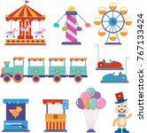 amusement park icon | Shutterstock .eps vector #767133424