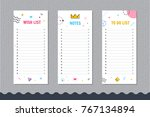 daily planner template.... | Shutterstock .eps vector #767134894