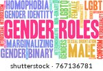 gender roles word cloud on a... | Shutterstock .eps vector #767136781