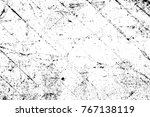grunge black and white pattern. ... | Shutterstock . vector #767138119