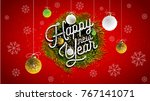 2018 happy new year background... | Shutterstock .eps vector #767141071