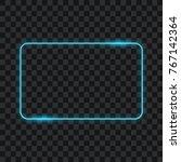 neon frame on transparent... | Shutterstock .eps vector #767142364