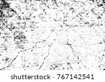 grunge black and white pattern. ... | Shutterstock . vector #767142541