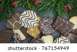 bunch of different cookies... | Shutterstock . vector #767154949
