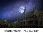 grand place   the historic... | Shutterstock . vector #767160139