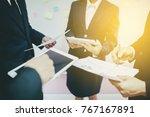 business people planning... | Shutterstock . vector #767167891