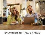 girl waiting for her man to... | Shutterstock . vector #767177539