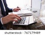 close up of a businessperson's... | Shutterstock . vector #767179489
