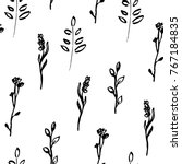 Floral Hand Drawn Seamless...