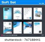 set of design of business... | Shutterstock .eps vector #767188441