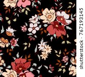 floral pattern in vector | Shutterstock .eps vector #767193145