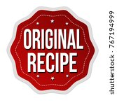 original recipe label or... | Shutterstock .eps vector #767194999