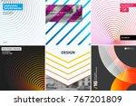 abstract vector design elements ... | Shutterstock .eps vector #767201809