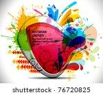 shiny vector bubbles for speech ... | Shutterstock .eps vector #76720825