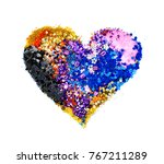 heart of different colored... | Shutterstock . vector #767211289