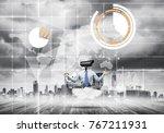 elegant businessman outdoors... | Shutterstock . vector #767211931