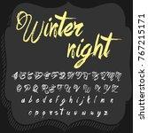 vector set of handwritten fonts ...   Shutterstock .eps vector #767215171