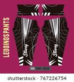 leggings pants fashion vector... | Shutterstock .eps vector #767226754