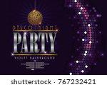 disco banner celebrating night...   Shutterstock .eps vector #767232421