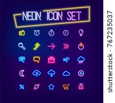business icon set neon sign ... | Shutterstock .eps vector #767235037