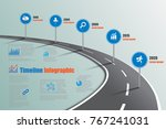 business road signs map... | Shutterstock .eps vector #767241031
