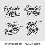 exclusive offer and limited... | Shutterstock .eps vector #767241055