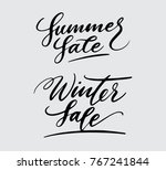summer and winter sale... | Shutterstock .eps vector #767241844