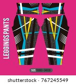 leggings pants fashion vector... | Shutterstock .eps vector #767245549