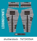leggings pants fashion vector... | Shutterstock .eps vector #767245564