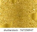 gold sequins texture. abstract... | Shutterstock .eps vector #767258947