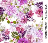 nature flowers and leaves... | Shutterstock . vector #767260165