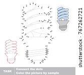 energy efficient lamp. dot to...   Shutterstock .eps vector #767262721