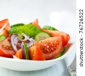 Tomato And Cucumber Salad With...