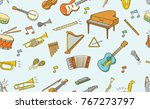 seamless pattern of  musical... | Shutterstock .eps vector #767273797