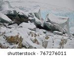 greenland kangerlussuaq russell ...   Shutterstock . vector #767276011