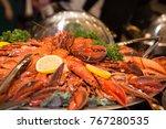 lobster claw buffet | Shutterstock . vector #767280535