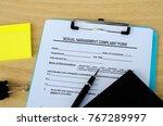 sexual harassment complaint form | Shutterstock . vector #767289997