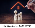 family life and property... | Shutterstock . vector #767291749