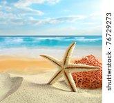 tropical beach | Shutterstock . vector #76729273