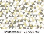 gray white grid mosaic... | Shutterstock .eps vector #767293759