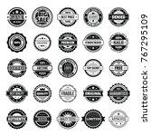 vintage badges and labels stamp ... | Shutterstock .eps vector #767295109