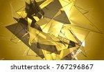 polygonal gold mosaic... | Shutterstock . vector #767296867