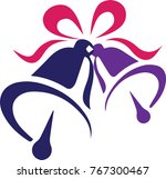 christmas bell with red color... | Shutterstock .eps vector #767300467