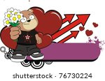 teddy bear sticker in vector...