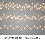 lights string bulbs isolated on ... | Shutterstock .eps vector #767306359