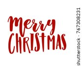 merry christmas happy new year... | Shutterstock .eps vector #767308231