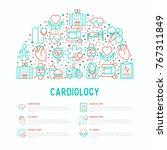 cardiology concept in half... | Shutterstock .eps vector #767311849