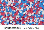 abstract red  white and red... | Shutterstock . vector #767312761